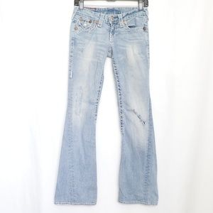 True Religion Jeans Joey Super T Flare Size 25